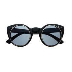 Flip Up Lens Steampunk Fashion Style Cat Eye Round Sunglasses R1960