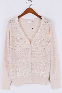 Floral Lace Paneled Cutout Cardigan