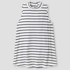 Girls' Ribbed Mock Neck Tank Top Solid Art Class - Navy (Blue) L, Girl's