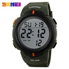 (13.95$)  Buy here - http://ai1p4.worlditems.win/all/product.php?id=J0252DGR - SKMEI Men Multifunctions Fashion Sports Watch Hot Sell 5ATM Waterproof Outdoors Activities Military Digital Wristwatch