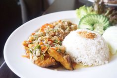 Mixed seafood in a sambal matah sauce