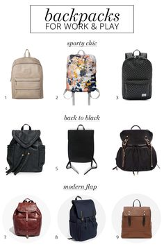 Back-to-school style: 9 fashionable backpacks for women - A Girl Named PJ - 9 stylish backpacks for women to wear to work and on the weekends Travel Backpack, Backpack Bags, Leather Backpack, Fashion Backpack, Camera Backpack, Fashion Bags, Women's Fashion, Stylish Backpacks For College, Cool Backpacks