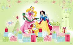 Disney Princess with Christmas presents