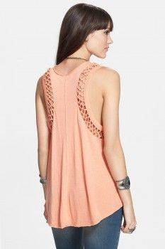 Free People Free People 'Neptune' Knotted Panel Tank