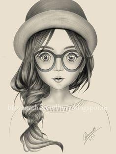 Abstract Pencil Drawings, Pencil Sketch Drawing, Girl Drawing Sketches, Art Drawings Sketches Simple, Sketch Painting, Realistic Drawings, Pencil Art Love, Girly Drawings, Indian Art Paintings