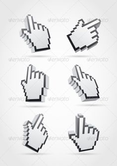 Cursor Hand Collection  #GraphicRiver         3d pointer hand collection. Hands, shadows and background are separated layers.   EPS file. Hi-res JPG file included.     Created: 14March13 GraphicsFilesIncluded: JPGImage #VectorEPS Layered: Yes MinimumAdobeCSVersion: CS Tags: 3d #button #choice #click #communication #computer #connection #cursor #design #element #finger #graphic #hand #icon #illustration #interface #internet #link #pixel #pointer #selection #set #sign #symbol #vector #web…