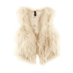 White Collarless Loose Thick Imitated Furs Vest ($36) ❤ liked on Polyvore featuring outerwear, vests, vest, jackets, vest waistcoat, faux fur vest, white faux fur vest, faux fur waistcoat and fake fur vest