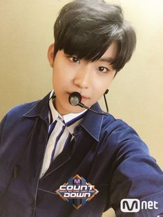 - Atualização do twitter do M!Countdown com Park Woojin