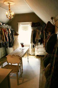 attic closet/dressing room
