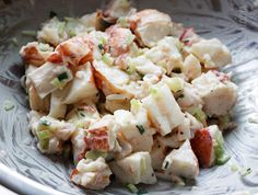 Lobster Salad - this recipe is actually for lobster rolls, but I could do without the roll