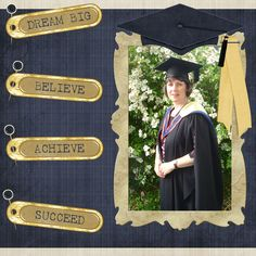 Graduation Scrapbook Pages Layout Ideas | ... Home Page >> Adamfobeth's Scrapbooks >> Graduation 09 - Page 1