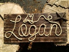32 Personalized Wood Sign  Western Decor  Baby by RopeAndStyle