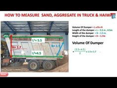 How To Measure Sand & Aggregate Truck Vehicle At Site Civil Engineering Construction, Android Codes, Building Costs, Math Formulas, House Front Design, Autocad, Calculator, Civilization, Ds