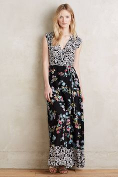 at anthropologie Azores Silk Maxi Dress