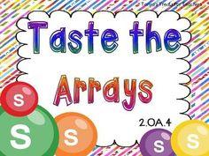Tonya's Treats for Teachers: Taste the Arrays Teaching Multiplication, Teaching Math, Multiplication Strategies, Array Multiplication, Fractions, Teaching Tools, Maths, Teaching Ideas, Math Games