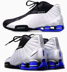 "Nike Shox ""Vince Carter"" Retro Metallic Black - House of Hoops Nike Shox, Jordan Shoes Girls, Girls Shoes, Air Jordan, Stylish Mens Fashion, Fashion Fashion, Runway Fashion, Fashion Trends, Nike Football Boots"