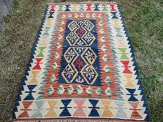 Anatolia Vintage Kilim Central Anatolia Design Kilim by AntikaArt 3x5