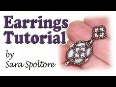 BeadsFriends: beading tutorial - How to make a Fabergé earring - YouTube