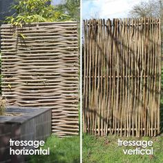Panneau noisetier tressage horizontal ou vertical - Cloture et Occultation