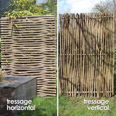 Panneau noisetier tressage horizontal ou vertical - Cloture et Occultation