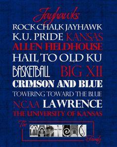 University of Kansas Jayhawks print