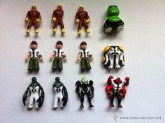 12 Figuritas coleccionables Ben 10 que salian en los huevos de chocolate.
