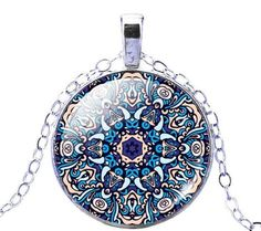 I/'d rather be Tibet silver Glass dome Necklace chain Pendant Wholesale