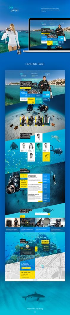 Divers Team— Dive Center on Behance