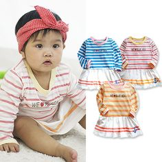 Today's Hot Pick :Striped BLUE SEA Dress http://fashionstylep.com/P0000XBV/laska4u/out High quality Korean baby fashion direct from our design studio in South Korea! We offer competitive pricing and guaranteed quality products. If you have any questions about sizing feel free to contact us any time and we can provide detailed measurements.