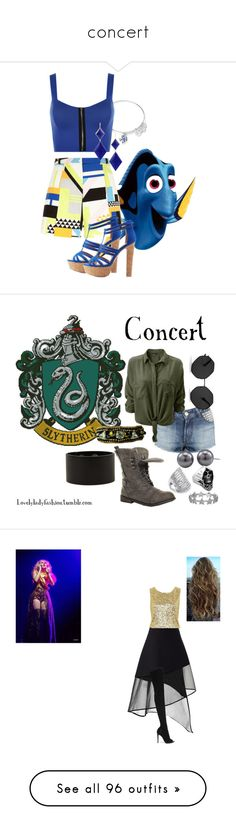 """""""concert"""" by johannasuska ❤ liked on Polyvore featuring Alex and Ani, River Island, WearAll, Marie Hélène de Taillac, Charlotte Russe, disney, disneybound, DORY, Forum and Carolee"""