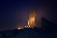 For six weeks every winter, the 300,000 people of Murmansk in the north-west of Russia must live without daylight. All photographs: Olga Kravets/Salt Images