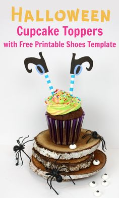 WITH FREE PRINTABLE WITCHES' SHOES  #halloween #cupcakes #happyhalloween #cupcake #halloweenparty #cupcake #cake  #buttercream  #cakes  #tutorial  #cakedesign  #eating  #fondant   #baking  #videos   #frosting   #inlove  #bakers  #dessert  #hungry #kidshalloween ideas #witch #cupcaketopper #witchcake #halloweencupcake #halloweenforkids #easykidshalloween #spookycakeideas Witch Cake, Halloween Cupcake Toppers, Baking Videos, Easy Fall Crafts, Love Eat, Holidays With Kids, Cute Halloween, Free Printables, Easy Meals