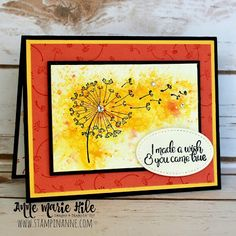 Stampin' Anne: Dandelion Wishes for Facebook Live
