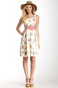 State Print Gingham Dress on HauteLook Fiber Content Shell: 97% cotton, 3% spandex Lining: 100% polyester