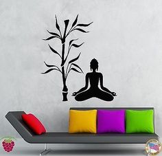Wall Stickers Vinyl Decal Buddha And Tree Religion Decor Zen Meditation (z2057)