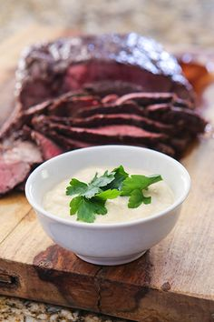 Juicy Beef Skewers With Horseradish Dip Recipe — Dishmaps
