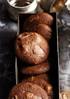 A cafe favourite ... triple chocolate fudge cookies. These biscuits will keep, stored in an airtight container, for up to 1 week.