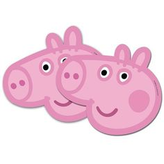 Party Time Celebrations  - Peppa Pig Party Masks, $9.50 (http://www.partytimecelebrations.com.au/peppa-pig-party-masks/)