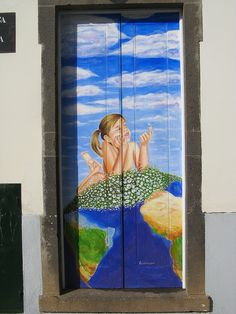Projecto artE pORtas abErtas, Open Doors project, painted doors, Funchal, Madeira, Portugal. by Jose Romeu, via Flickr