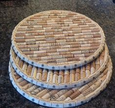Wine Cork Trivets 16 round Would make a cool lazy Susan too!Utilized Beer Corks for sale to be used for craft tasks like wine plug wreaths, cork boards, marriage ceremony favors and even more.You can make a DIY Cork Board in any shape or size. You just ne Wine Craft, Wine Cork Crafts, Wine Bottle Crafts, Crafts With Corks, Wine Cork Trivet, Wine Cork Art, Wine Cork Boards, Wine Cork Table, Upcycled Crafts