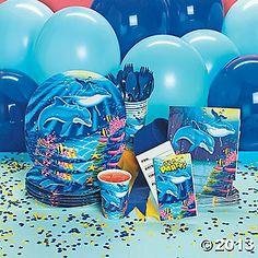 Dolphin Birthday Party Supplies, I want to be a kid again so that I can have a themed party lol