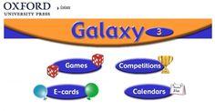 """Materiales y actividades interactivas complementarias de Inglés de 3º Nivel de Educación Primaria, """"Galaxy"""", de Editorial Oxford."""