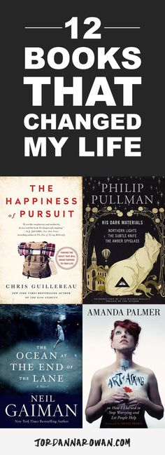 12 Books That Changed My Life // From The Happiness of Pursuit and The Art of Asking, to His Dark Materials, and The Ocean at the End of the Lane. Fiction and non-fiction of every kind, books have shaped my life from the moment I could read. I'm sharing you my top 12 in the hopes that maybe one of these books can become a part of your story, too. xx