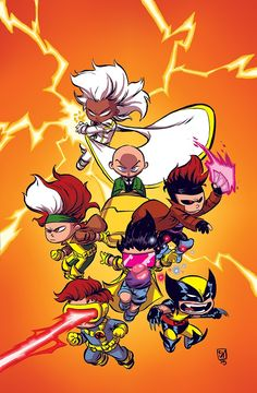 X-Men '92 variant cover by Skottie Young *