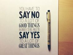On Saying No #typography #design #inspiration