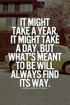 Be patient, good things are on their way..