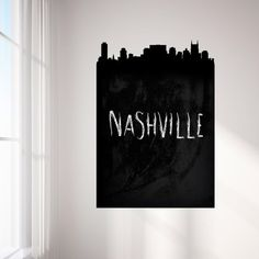 Nashville Chalkboard Skyline Wall Decal