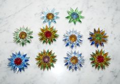 10 Old Matchless Star Xmas Lights - Original around 1930 (# 6585)