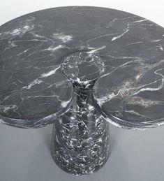 Angelo Mangiarotti Side Table Eros Black Marquina Marble, Italy