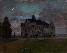 Paintings Gallery Castle in Twilight Isaac Levitan - 1898